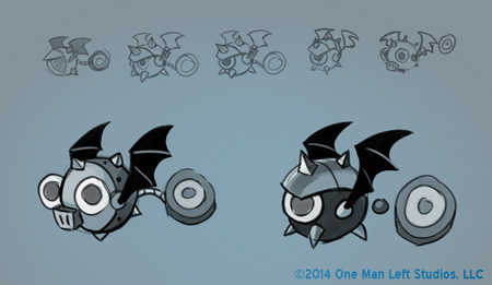 Bat Dot Bot Sketches