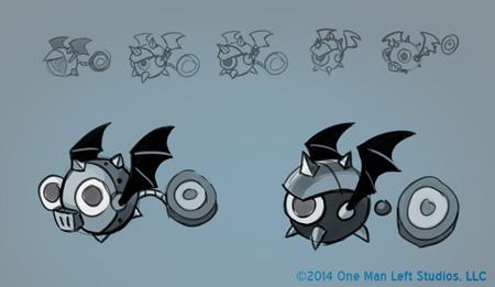 Bat Dot Bot Sketches